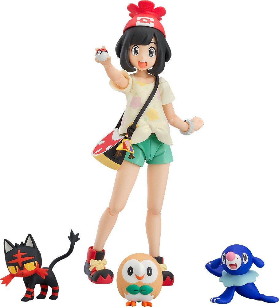 Good Smile Company figma Pokemon Mizuki Moon Selena ABS  PVC Figure Popplio Litten Rowlet