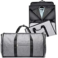 Waterproof Travel Bag Mens Garment Bags, Maleta Porta Traje Carry On Viaje De Negocios o gym para hombres (Gris)