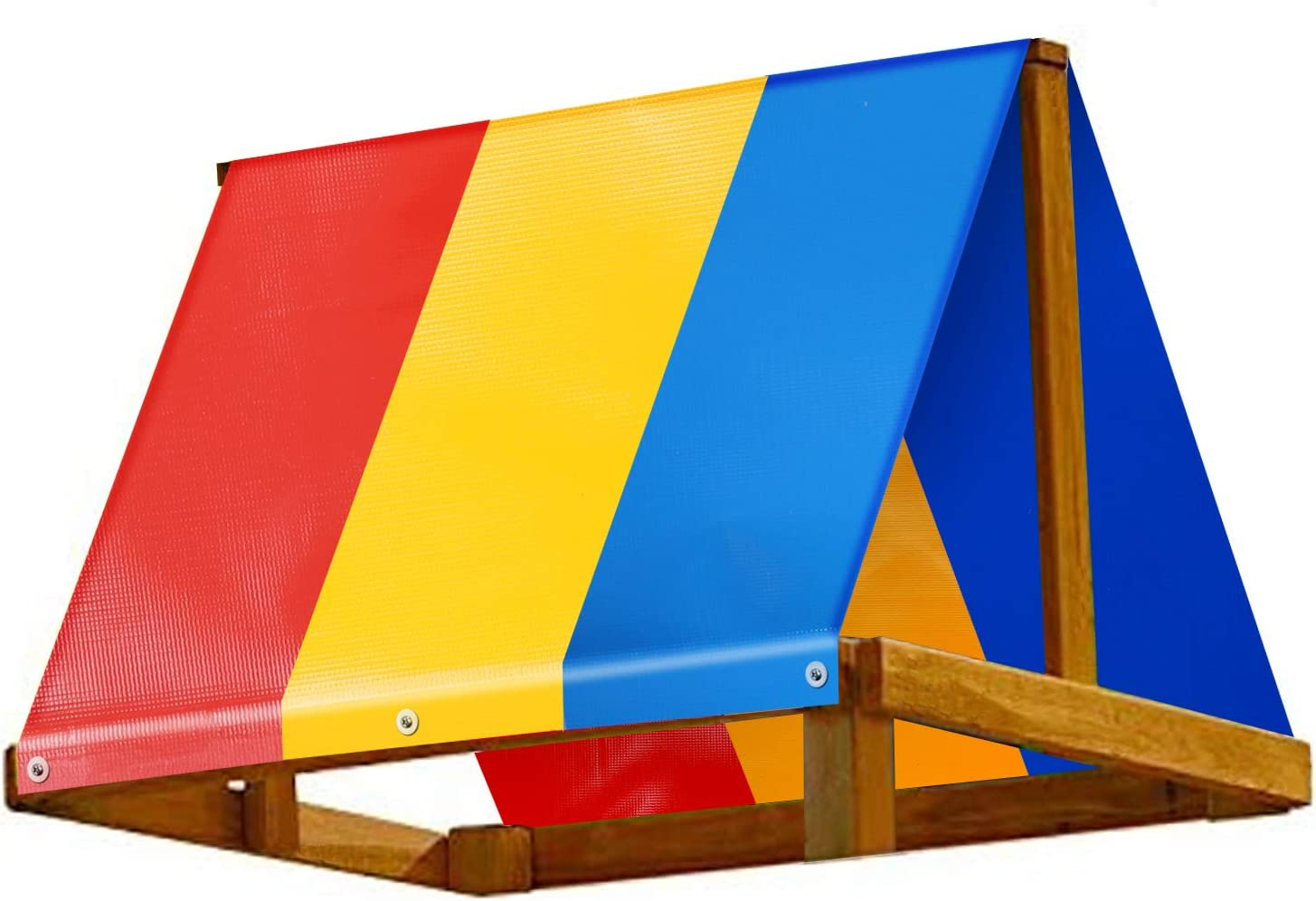 Waterproof /& UV Protection Colorful Playground Roof Kids Wooden Swingset Canvas Cover Replacement Multicolor Backyard Playset Canopy Replacement 52 /× 90 in Swing Set Replacement Tarp 52 /× 90