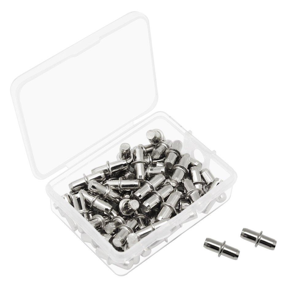 hysagtek 50/x 5/mm Metal estante soporte con caja compacta Pug en estante pinzas studs hardware para armario de cocina estanter/ía