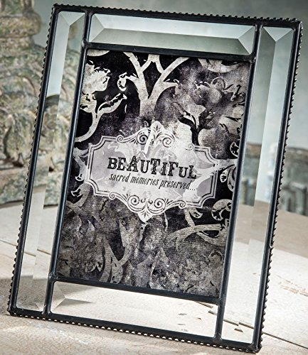 J Devlin Glass Art Pic 354-57HV Beveled Glass 5x7 Picture Frame Table Top Photo Wedding Frame Keepsake Vintage Beveled Glass