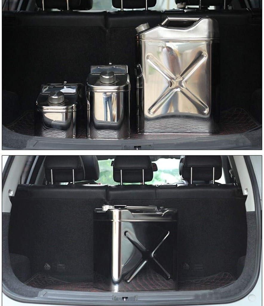 XIAOYU Benzinkanister Size : 30L 304 Edelstahl Material Metall Notfall Ersatzkraftstofftank Verdickte Benzintank for Auto Und Motorr/äder