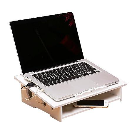 Yumu Notebook/Portátil Soporte para ordenador de escritorio con espacio de almacenamiento/elevador de