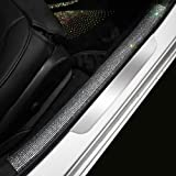 eing Rear Bumper Protector Guard DIY Universal Bling Crystal Rubber Scratch-Resistant Trunk Door Entry Guards Accessory Trim
