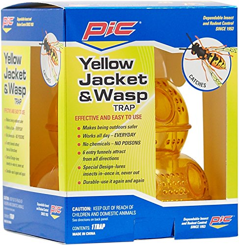 Pic Wasp, Yellow Jacket & Hornet Trap (Pic Yellow Jacket And Wasp Traps 6 Pack)
