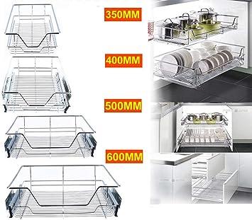 Gabinete deslizante de cocina, gabinete profesional de metal cromado extraíble organizador de almacenamiento de alambre, cajón de cocina, gabinetes de base (500): Amazon.es: Hogar