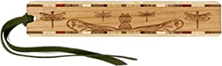 product image for Personalized Dragonflies Engraved Wooden Bookmark on Cherry with Suede Tassel