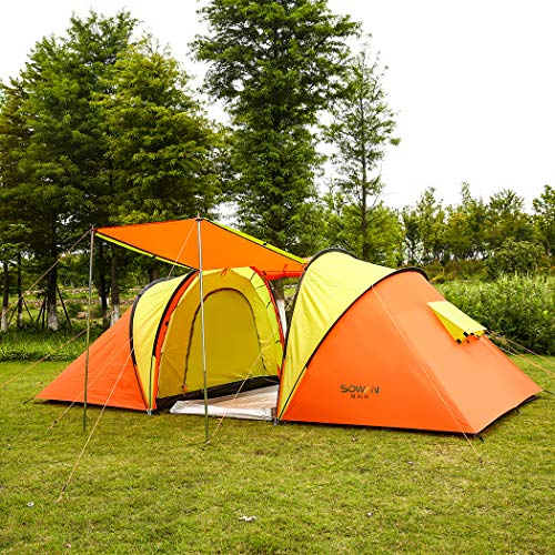 Automatic Family Camping Tent 4 Person Instant Pop Up Backpacking Waterproof Dome Easy Quick Setup Tents for Outdoor Hiking Include Carrying Bag