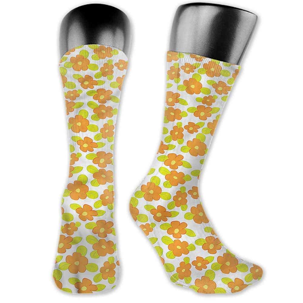Socks Design Color Orange,Groovy Soft Triangles,socks women
