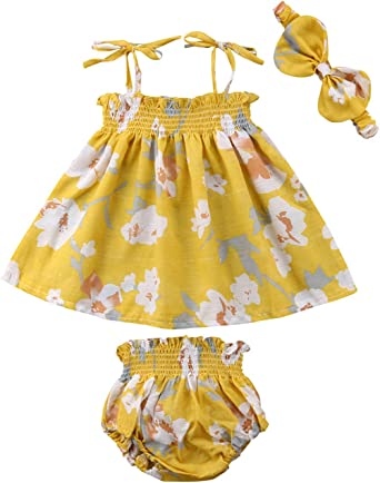 Younger Tree Baby Girl Summer Clothes Black Lace Blouse Top Black, 12-18 Months Yellow Shorts Pants 2Pcs Outfit Set