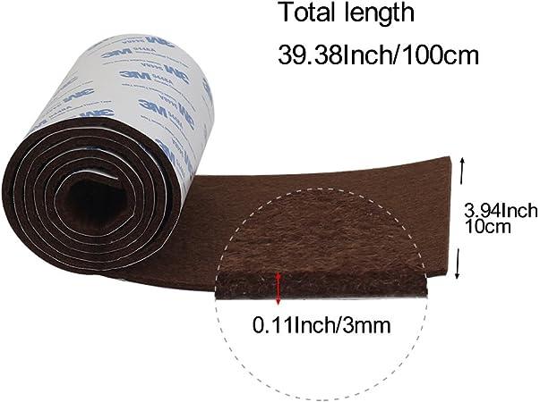 "Shintop Felt Tape DIY Adhesive Heavy Duty Felt Strip Roll Cut 1.96/"" x 39.3/"""