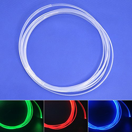 3MM x3 LED Skirt Side Glow Fiber Optic Cable Light Kit 1.5W DC 12V Illuminator Car Home (Blueice) by Shine (Image #5)'