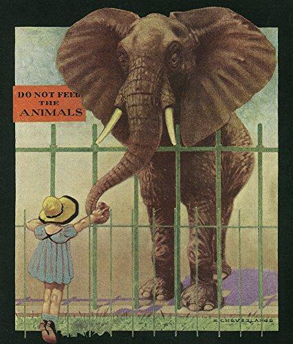 Nature Magazine - Little Girl Feeding Elephant; Do Not Feed