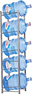 5-Tier Water Rack Stainless Steel Heavy Duty Water Cooler Jug Rack,you can keep your water jugs stacked in one spot