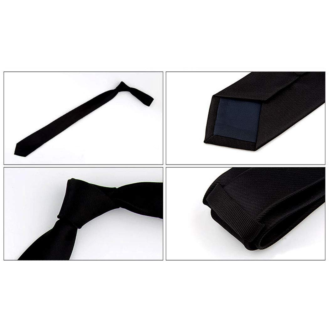 Color : 4, Size : Tie 61453.5cm GJFeng Mens Solid Color Polyester Silk Tie Fashion Casual Suit Tie Candy Color Multi-Color Narrow Version Dress Business Tie 61453.5cm 。