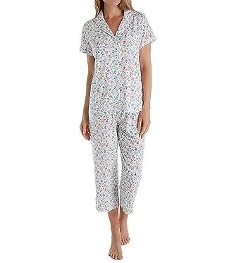Karen Neuburger KN Floral Top and Cropped Pants Pajama Set Ditsy Large acd5f7cf4