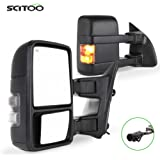 SCITOO Towing Mirrors fit for Ford High Perfitmance Automotive Exterior Mirrors fit 1999-2007 F250 F350 F450 F550 Super Duty