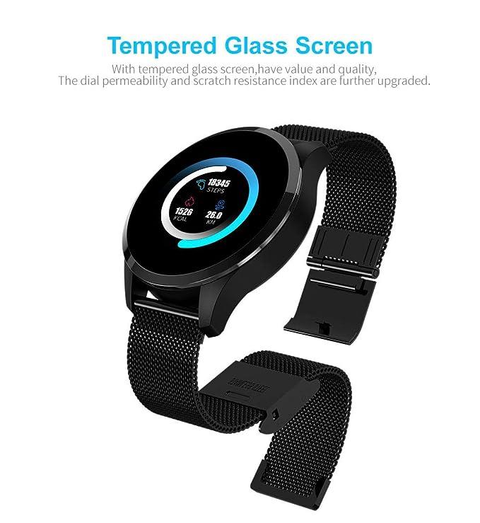 FBLWT Smartwatches Reloj Inteligente Q9 Pantalla Redonda Pantalla ...