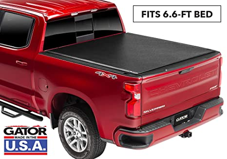 Gator ETX Soft Roll Up Truck Bed Tonneau Cover | 53110 | fits 14-18, 2019  GMC Sierra Limited/Chevy Silverado 1500 Legacy , 6 6' Bed | Made in the USA