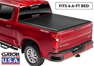 """Gator ETX Soft Roll Up Truck Bed Tonneau Cover   53110   Fits 2014 - 2018, 2019 Ltd/Lgcy GMC Sierra & Chevrolet Silverado 1500 6'6"""" Bed Bed   Made in the USA"""