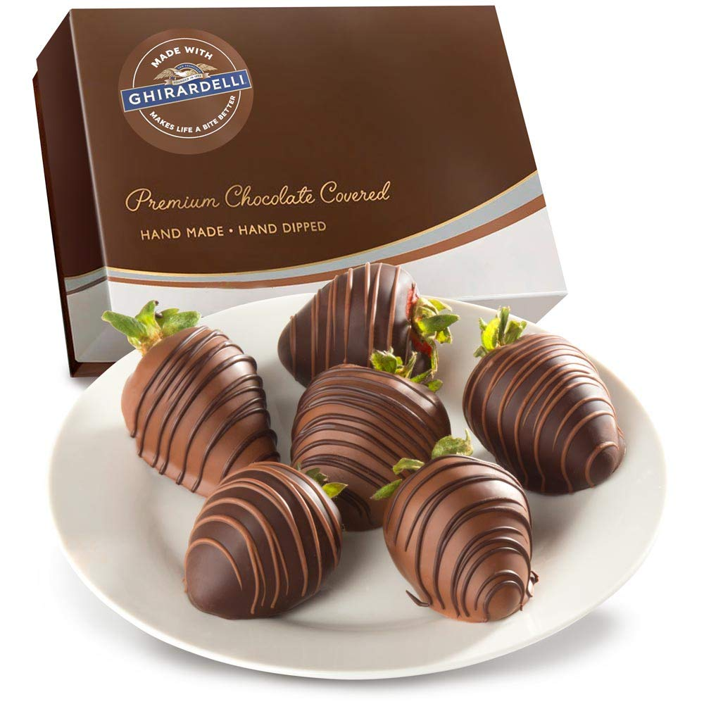 Made With Ghirardelli Chocolate Covered Strawberries, 6Count by Golden State Fruit