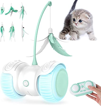 Cat Toys,Interactive Cat Toys,Cat Toys for Indoor Cats USB Rechargeable,for Cats Exercise