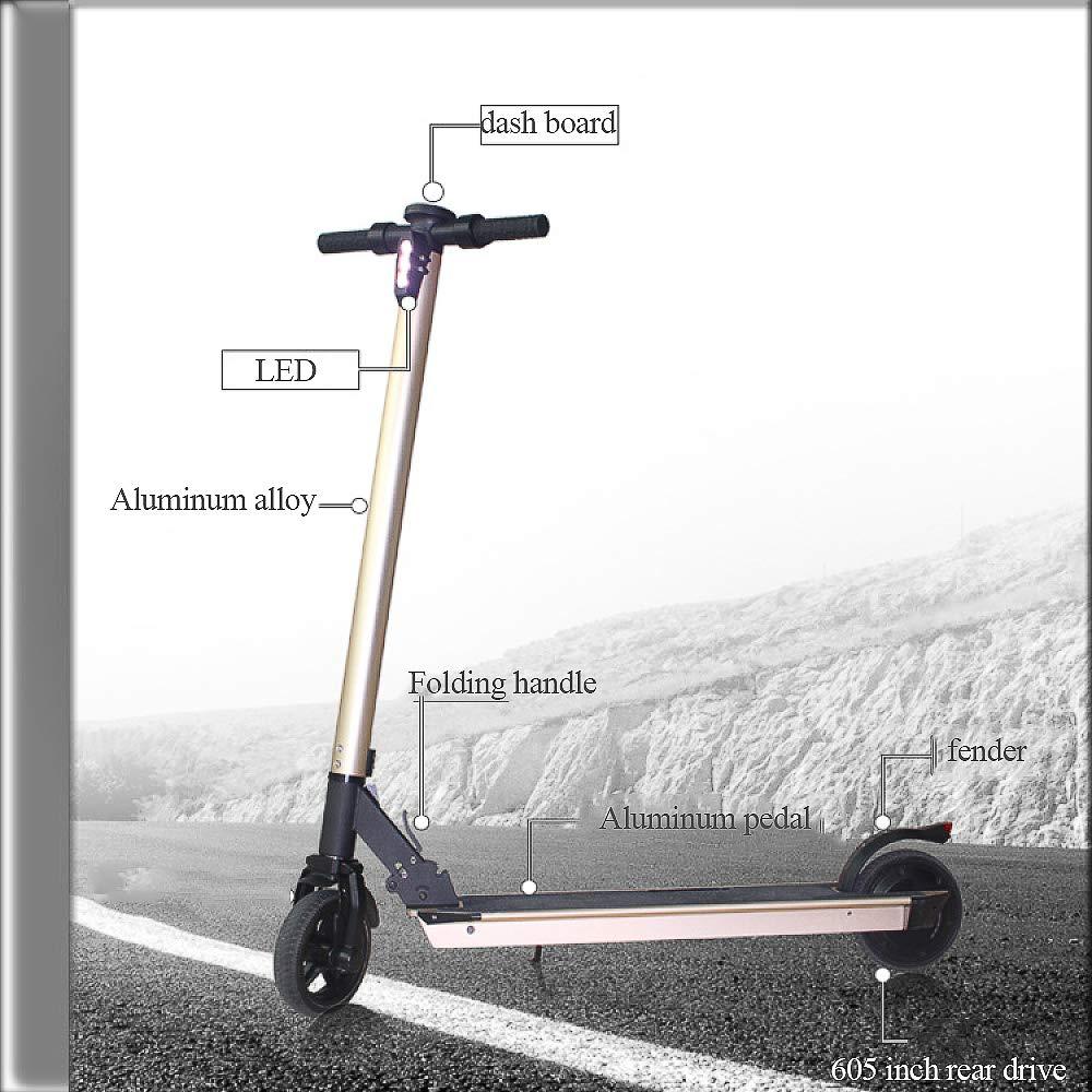 ertyu Patinete Electrico Adulto Scooter Electrico Plegable ...