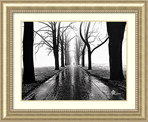 (Framed Art Print 'Jogger, Westport, Connecticut' by Larry)