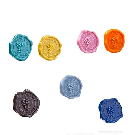 49 opinioni per Vacu Vin 1886461 Set Segna Bicchiere, Silicone, Multicolore, 3x11x3 cm, 8 Unità