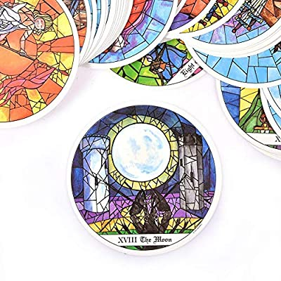 78 Pcs Cards Tarot of The Cloisters Cards Board Game 1993 Round Card Playing Card Deck Games Entertainment for Family Party Gift: Toys & Games