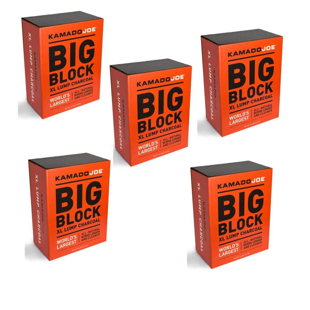 Kamado Joe KJ-Char Hardwood Lump Charcoal, Extra Large (5 Packs - Extra Large Lump Charcoal)