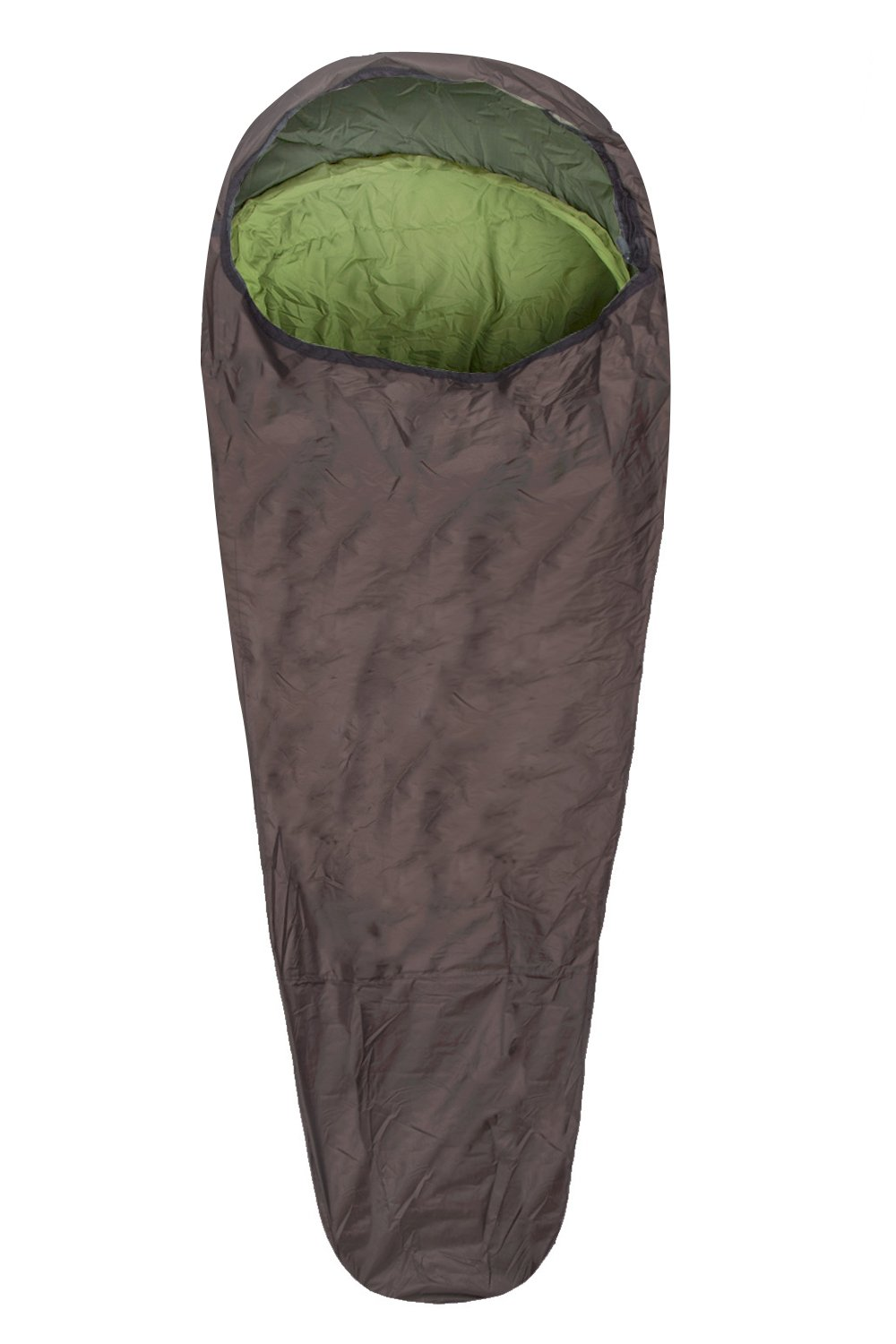 Mountain Warehouse Bivvy Sleeping Bag - Compact All Season Camping Bag Khaki 023722026001