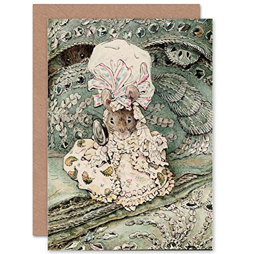 (Wee Blue Coo Helen Beatrix Potter Lady Mouse in Mob Cap Art Greetings)