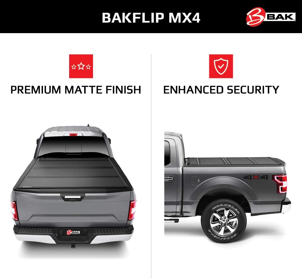BAK BAKFlip MX4 Hard Folding Truck Bed Tonneau Cover | 448426 | Fits 2016-20 Toyota Tacoma