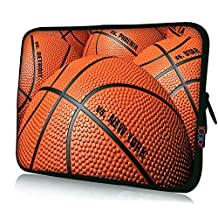 "ICOLOR Neoprene Laptop Case Waterproof Sleeve Bag Pouch for 13"" 13.3""Pro/HP/Acer/Dell/Asus/Samsung Notebook Basketball"