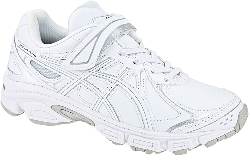 Asics - Zapatillas de Running de Piel sintética para niña Blanco ...