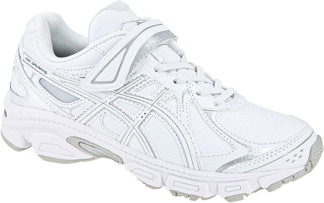 Asics - Zapatillas de running de piel sintética para niña Blanco blanco 28.5: Amazon.es: Zapatos y complementos