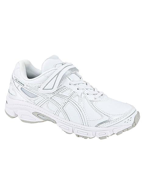 Asics - Zapatillas de running de piel sintética para niña Blanco blanco 27: Amazon.es: Zapatos y complementos