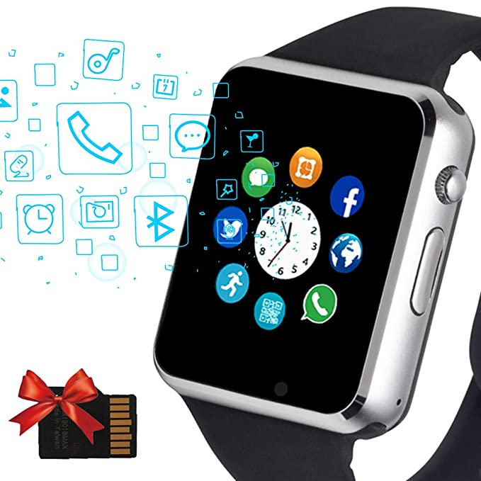 Janker Smart Watch, Bluetooth Smartwatch Phone with SIM Card Slot Camera for Music Player Touch Screen Wrist Watch Compatible Android iOS Phones for ...