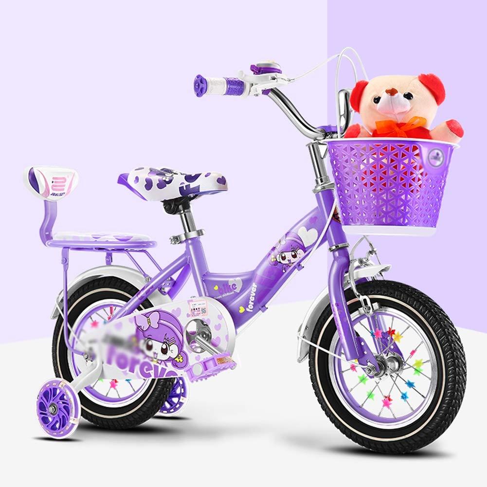 TD 子供用 自転車 3歳 ベビー自転車 2-4-6-7-8-9歳 ベビーキャリッジ 女の子 子供 自転車 男の子 12 inches パープル 1035 B07JLB23WM  パープル 12 inches