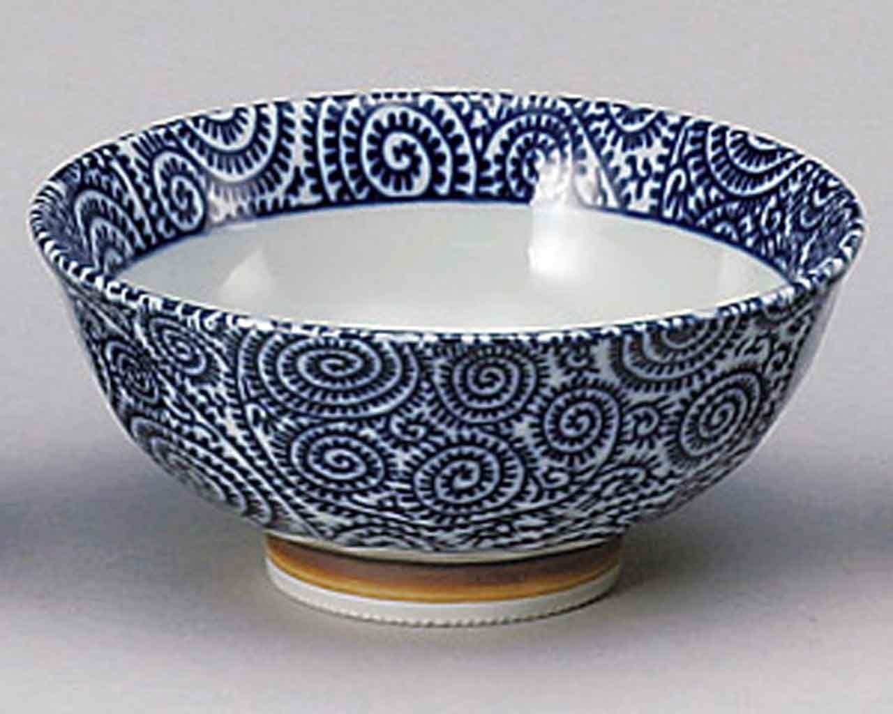 Karakusa 14cm Ramen-Bowl White Porcelain Made in Japan