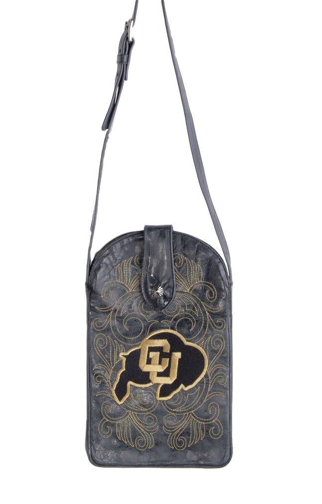Gameday Boots NCAA Colorado Buffaloes Women's Cross Body Purse, Black, One Size