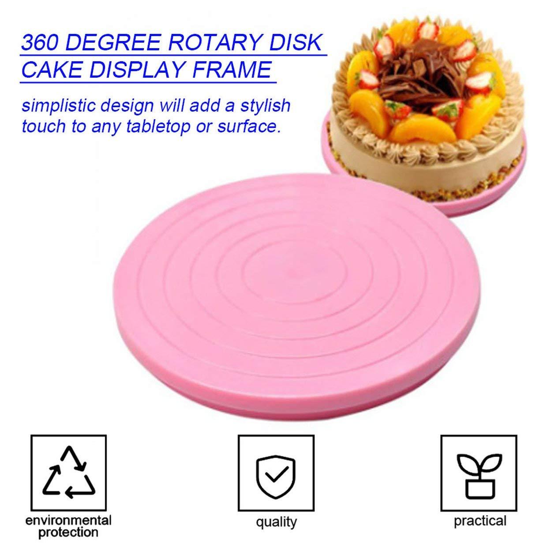 MXECO Housewares 360 Grados rolation Soporte para Plato Giratorio de decoraci/ón de Pasteles