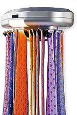 KIKAR Electric Motorised Tie Rack | Wall Mounted Tie/ Belt/ Scarf