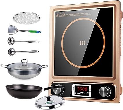 F-JX Placa De Inducción, Cocina De Inducción Portátil 3500W ...