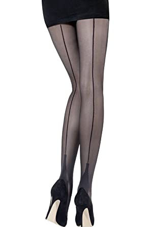 7f07b79f7b9df Image Unavailable. Image not available for. Colour: Back Seam Stiletto  Cuban Heel Tights XXL ...