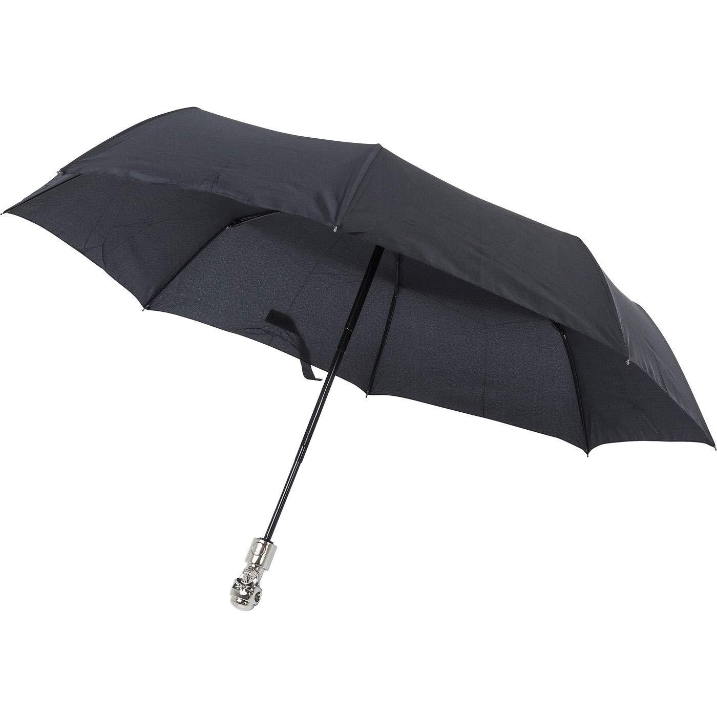 Schwarz 31 cm Kare Skull Parapluie Canne Noir