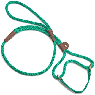 product image for Mendota Pet Dog Walker, Martingale Style Leash - Leash & Collar Combo, Made in The USA - Kelly Green, 1/2 in x 6 ft - for Large Breeds