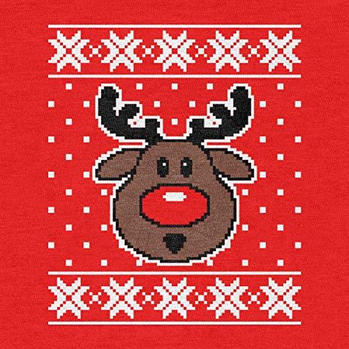 Di Uomo Sweater Renna Da Maglione Rosso maglione Felpa Rudolph Ugly Shirtgeil Natale Fnv5wW66q