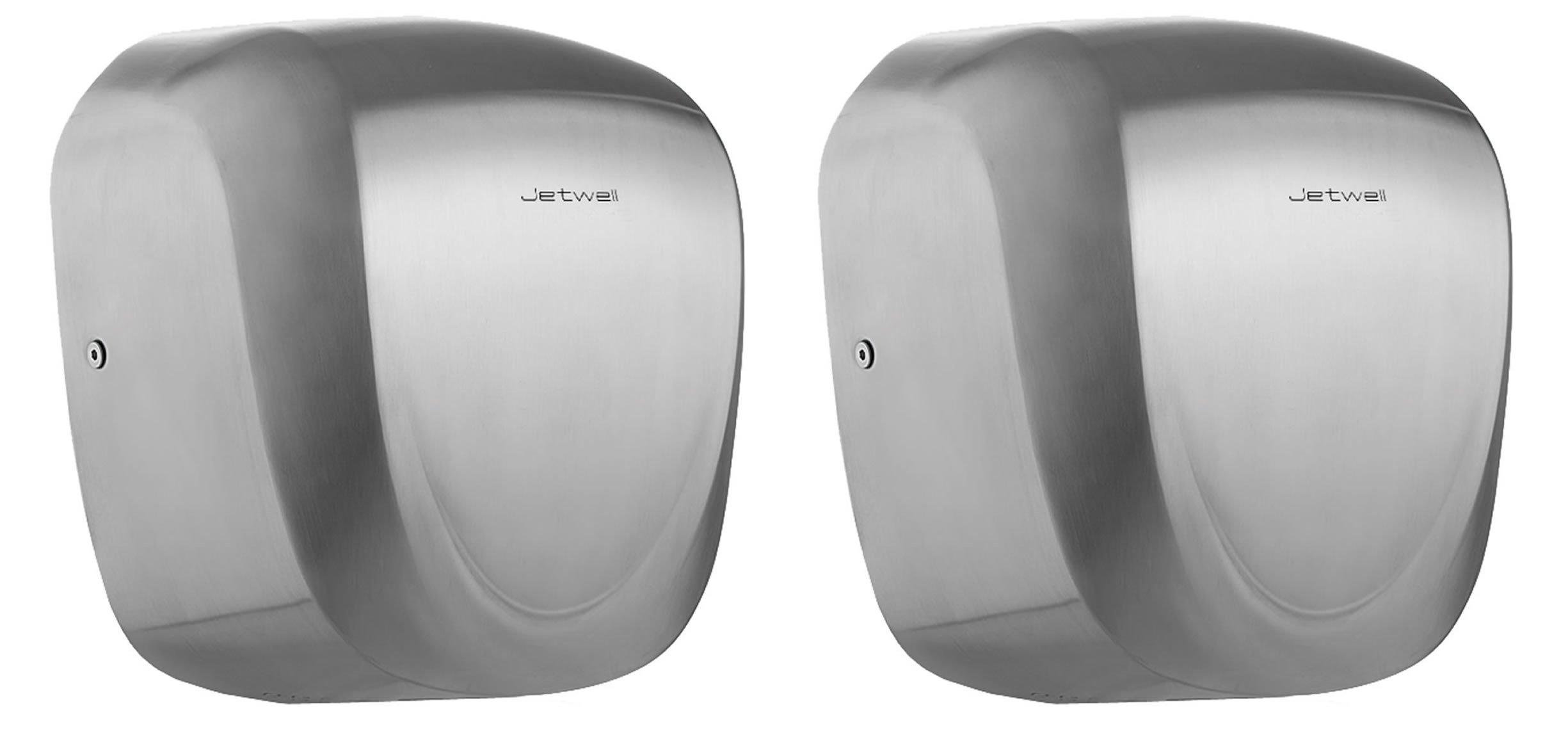 Jetwell (2 Pack High Speed Commercial Automatic Eco Hand Dryer-Heavy Duty Stainless Steel-Hot Air Hand Blower